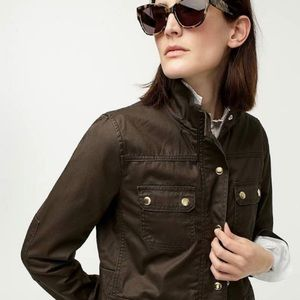 J.Crew Downtown Field Jacket in Mossy Brown